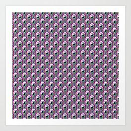 Eye pattern 01 Art Print