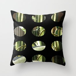 Cactus Garden Art Circles 2 Throw Pillow