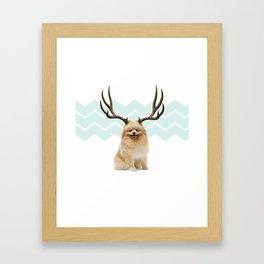 Puppy&Antlers Framed Art Print
