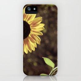 Sunflower Gaze iPhone Case