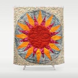 The Golden Sun Star Shower Curtain