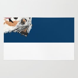 Australian Shepherd blue merle cute pet portrait dog person must have gifts for aussie owner  Rug