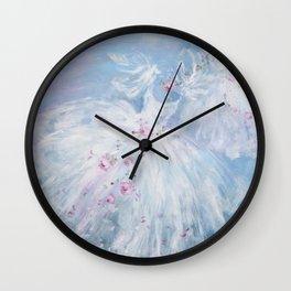Tutus' in Aqua Wall Clock