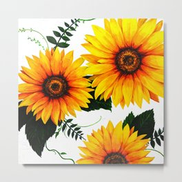 Sunflower painting 1 Metal Print
