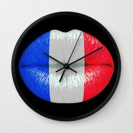 French smooch Wall Clock