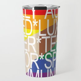 Fully Automated Luxury Queer Technicolor Space Communism Travel Mug