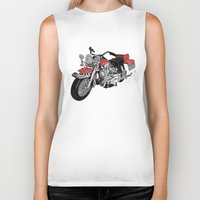 motorbike Biker Tanks featuring MotorBike by tuncay cavdar