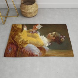 "Jean-Honoré Fragonard ""Young Girl Reading, or The Reader (French: La Liseuse)"" Rug"