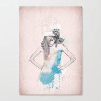 raccoon Canvas Prints featuring Raccoon Love by Ariana Perez
