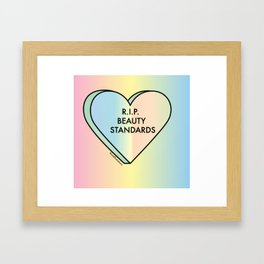 R.I.P. Beauty Standards Framed Art Print