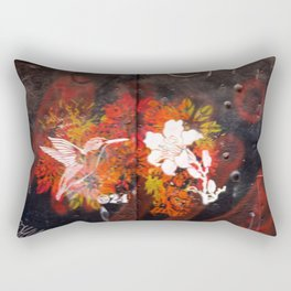 Hummingbird and flower graffiti Rectangular Pillow