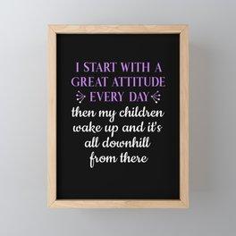 Funny Mom Mother Toddlers Parents Motherhood Gift Framed Mini Art Print