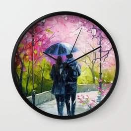 Spring walk in the Park Wall Clock