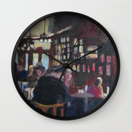Fanelli's Crowd Wall Clock