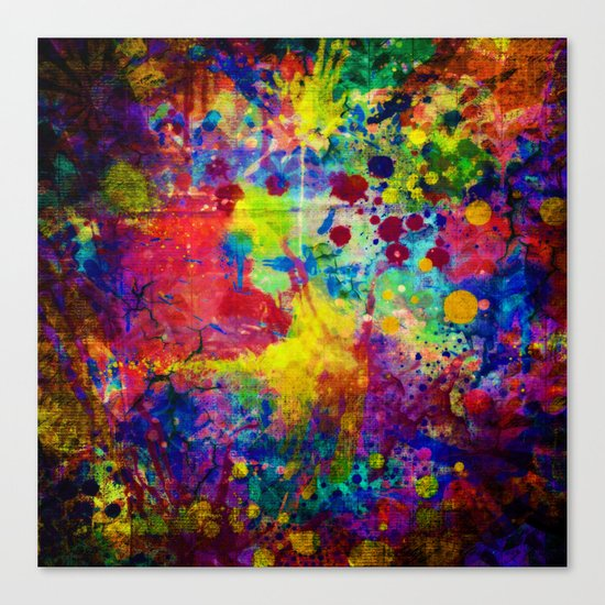 colorful canvas ii Canvas Print
