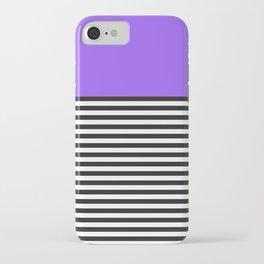 STRIPE COLORBLOCK {PURPLE} iPhone Case