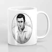 snl Mugs featuring DARK COMEDIANS: Adam Sandler by Zombie Rust