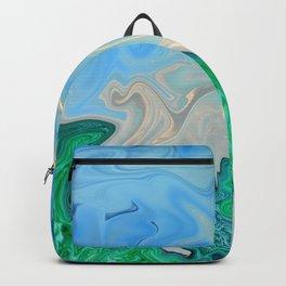 Ocean Meeting Land Marble Backpack