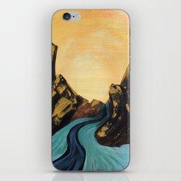 Blue Water Landscape Noelles Art Loft iPhone Skin