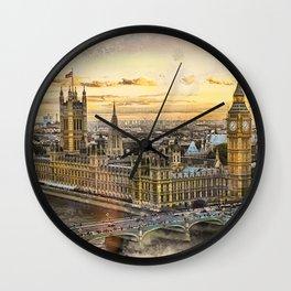 London city art 3 #london #city Wall Clock
