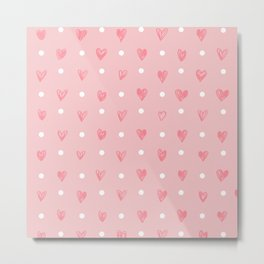 hearts pattern Metal Print