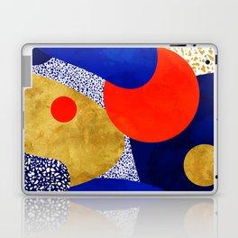 Terrazzo galaxy blue night yellow gold orange Laptop & iPad Skin
