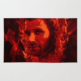 Lucifer in flames Rug