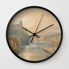 Barnard Castle J. M. W. Turner Wall Clock