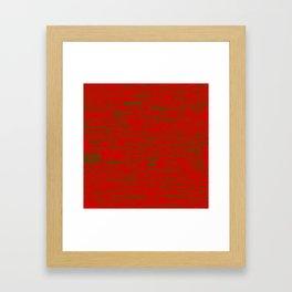 Merry Christmas, green on red Framed Art Print