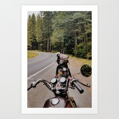 Travels with Chris Art Print