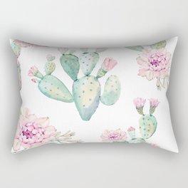 Simply Cactus Rose Rectangular Pillow