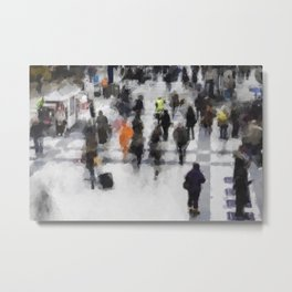 Commuter Art Metal Print