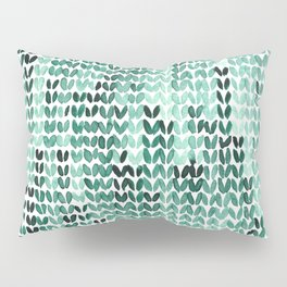 Watercolor Knitted Pattern Pillow Sham