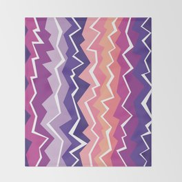 80s Zigzag 2 Throw Blanket