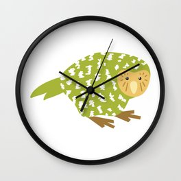 Cute Kakapo Wall Clock