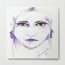 woman's face Metal Print