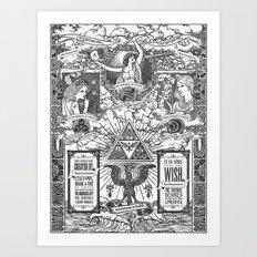 Legend of Zelda - The Three Goddesses of Hyrule Geek Line Artly Art Print