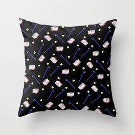 Flowers Crowbar and Sixpack Throw Pillow