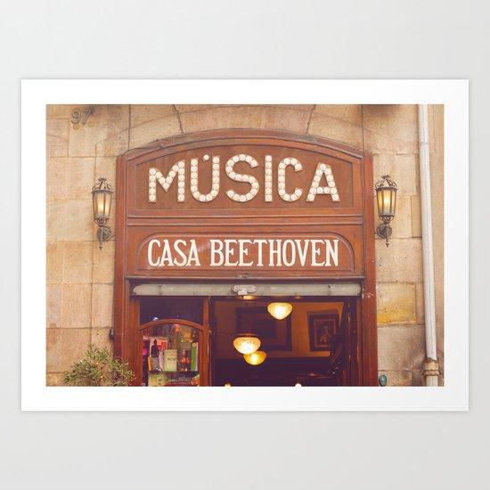 Casa Beethoven* Art Print