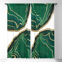 Emerald Agate Gold Glam #1 #gem #decor #art #society6 Blackout Curtain