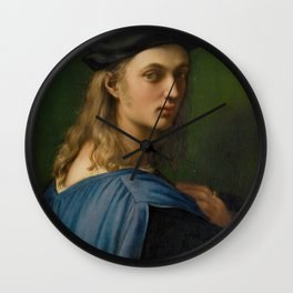 """Raffaello Sanzio da Urbino """"Portrait of Bindo Altoviti"""", c 1514 Wall Clock"""