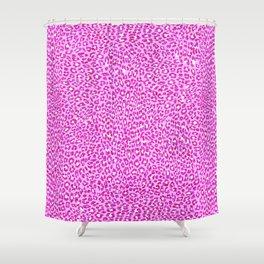 Light Pink Glitter Cheetah Print Shower Curtain