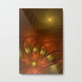 Fantasy in Copper and Gold Metal Print