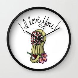 I Love You! says the kandry. Wall Clock