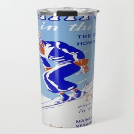 Vintage poster - Skiing in the East Travel Mug
