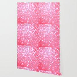 Bubblegum Pink Pixel Sparkle Wallpaper
