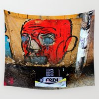 vodka Wall Tapestries featuring In The Ice Of The Beholder by oneofacard