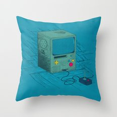 Old Video Game Console Throw Pillow