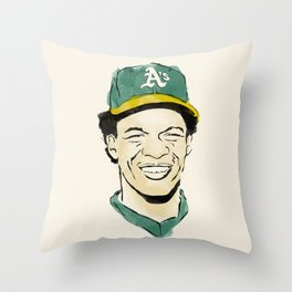 """Rickey """"The Man of Steal"""" Henderson Throw Pillow"""