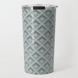 Two-toned square pattern Travel Mug